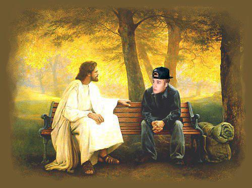 bieber and god