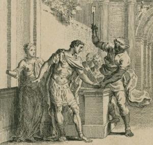 Aaron hacking off Titus's hand