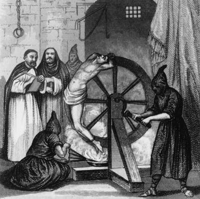 Good old fashioned torture from the Inquisition