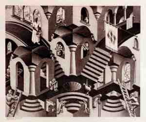 MC Escher: Convex and Concave
