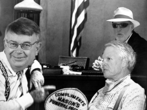 "From the film version of ""Inherit the Hot Air starring from left to right Frank Wooten, Sen. Mike Fair, and Wesley Moore"