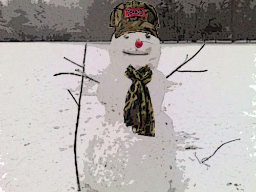 bubba the redneck snowman
