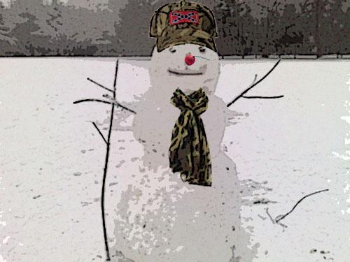 bubba the redneck snowman