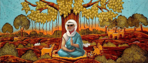 Wes Buddha -meditate-under-a-Bodhi-tree