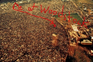 Aerial photo of me at Woodstock