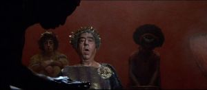 Trimalchio burping in Fellini's Satyricon