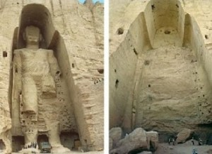 Bamiyan Buddhas, before and after