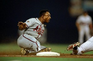 Alas, Lonnie sliding into second in Game 7 of the '91 Series when he had a clear path home in a 0-0 tie.
