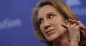 WASHINGTON, DC - DECEMBER 18:  Carly Fiorina, former CEO of the Hewlett-Packard Company, speaks at the Heritage Foundation December 18, 2014 in Washington, DC. Fiorina joined a panel discussion on the topic of