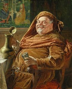 John Falstaff by Eduard Von Grutzner