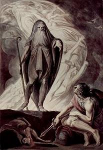 Tiresias appearing to Odysseus by Johann Heinrich Füssli