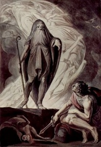 Tiresias appearing to Odysseus by Johann Heinrich Füssli