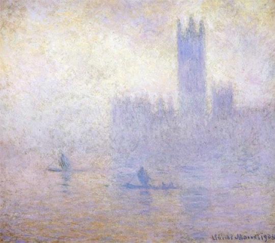 Claude Monet: Le Parlement, effet de brouillard