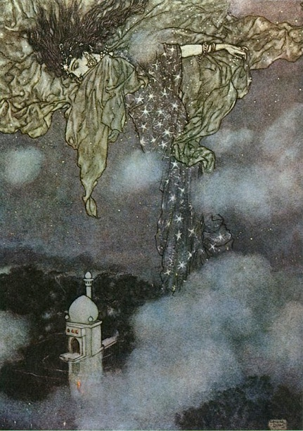 Hidden by the Sleeve of Night and Morn by Edmund Dulac