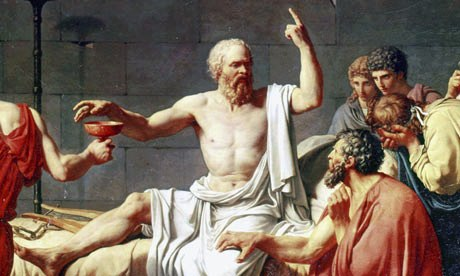 detail from David's The Death of Socrates