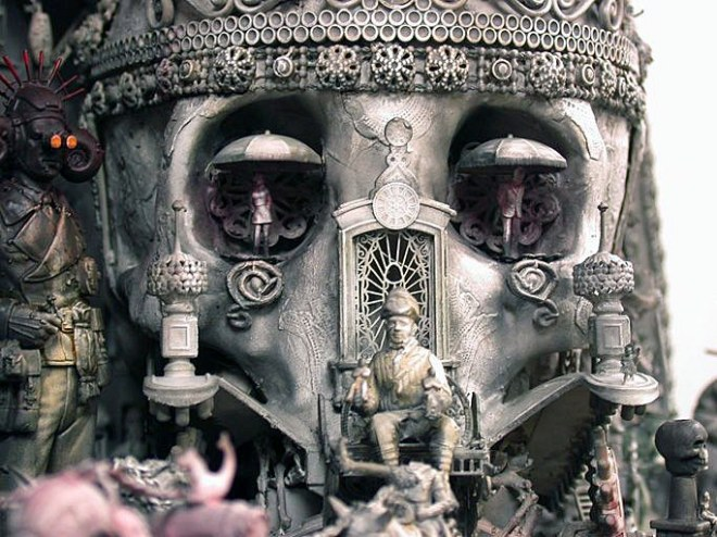 detail from The Palace of Hedonism by Kris Kuksi
