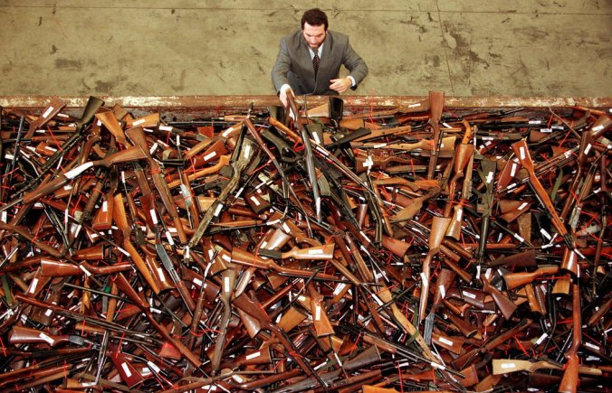 A few of the weapons accumulated in Australia's government's buy back program