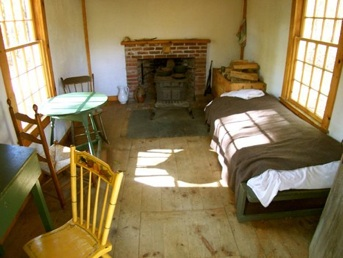 Thoreau's Walden Pond bedroom