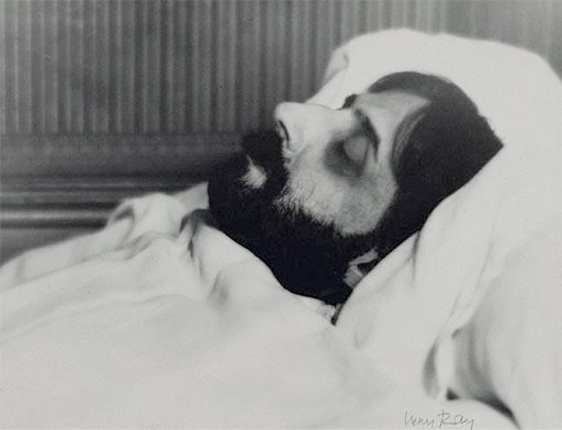 Marcel Proust on his death bed