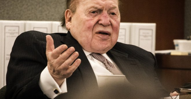 Adelson, who makes Trimalchio look refined, turned Ted Cruz away from his suite after Ted's traitorous speech