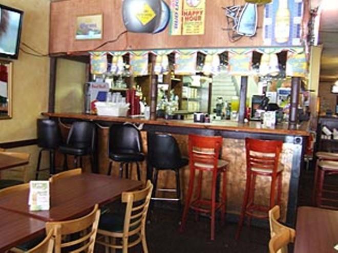 the bar inside La Hacienda