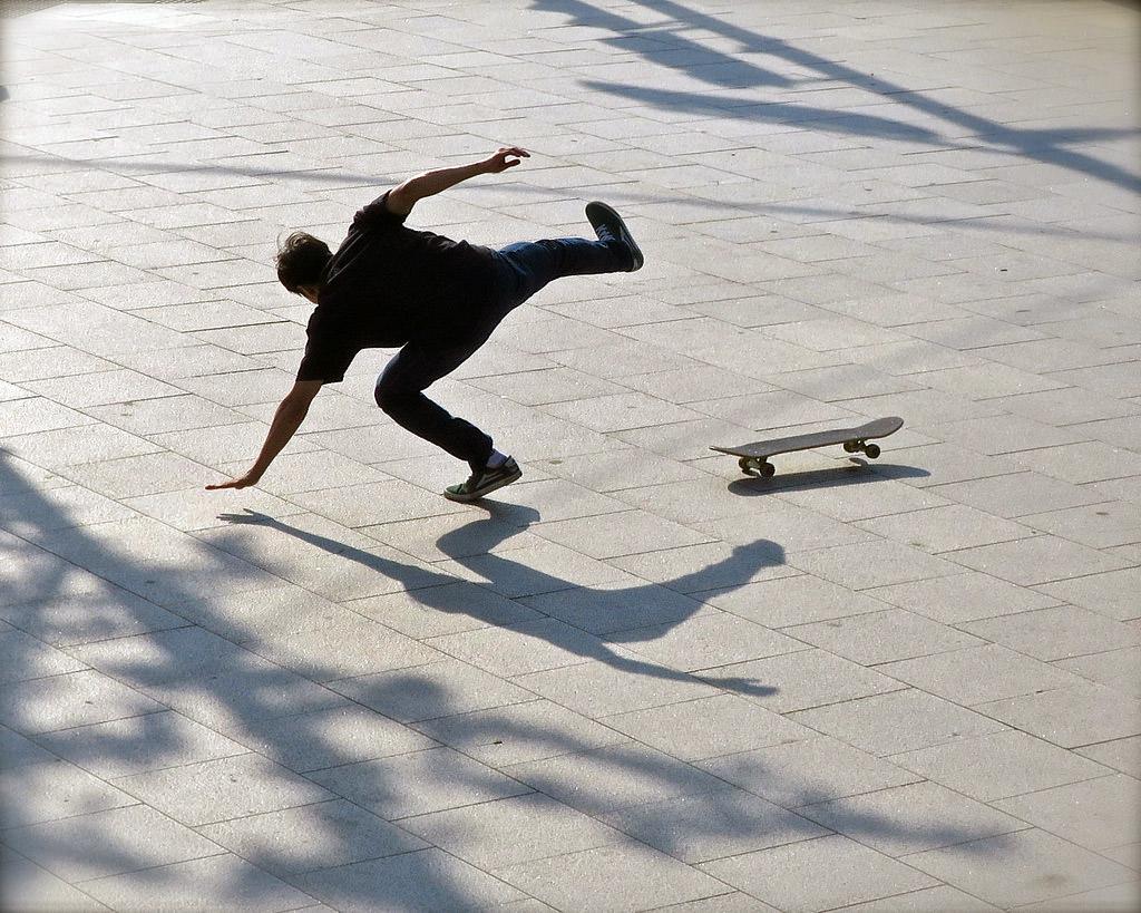 Skateboard Wipeout by Robert Mooney