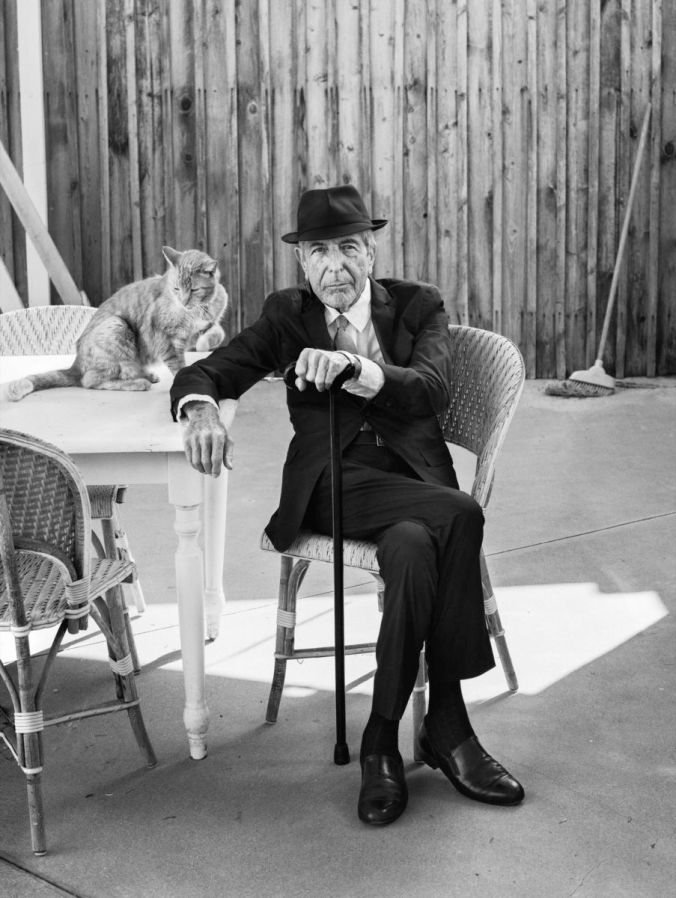 Leonard Cohen at home, Los Angeles, September, 2016. PHOTOGRAPH BY GRAEME MITCHELL FOR THE NEW YORKER