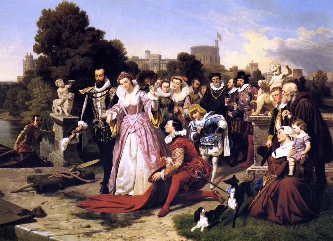 """Emanuel Gottilieb Leute """"Elizabeth and Raleigh"""""""