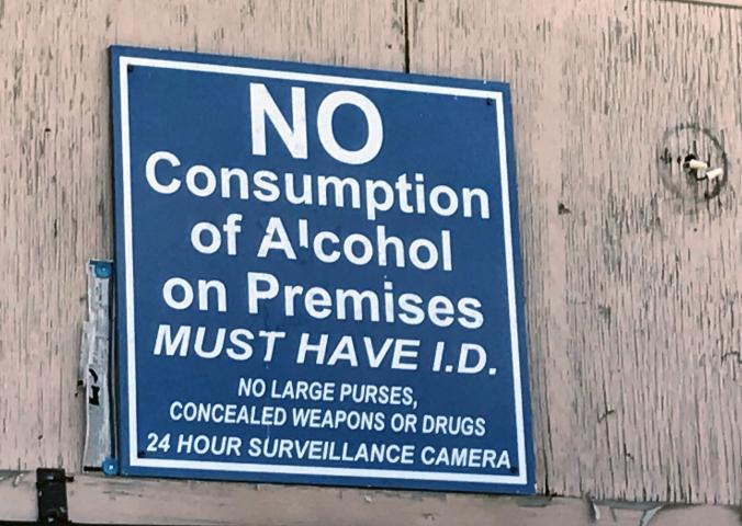 Sign at Island Breeze