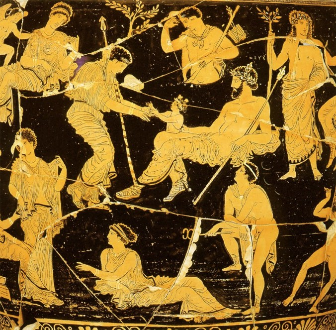 Birth of Dionysus Zeus Thigh