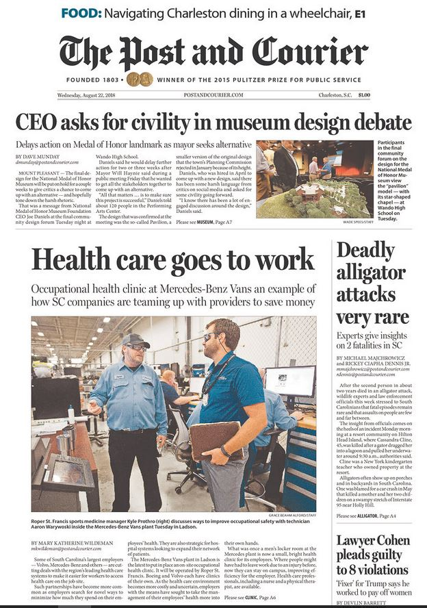 cohen headline Post & Courier